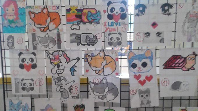 Concours De Dessin Pixel Art Place Au Vote Des élèves